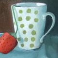 mug à pois13cm x 18cm
