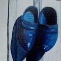sabots bleus 13cm x 18 cm
