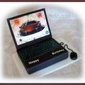 Laptop zum Geburtstag/Schoko-Nougattorte