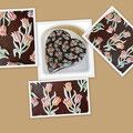 Herz Torte mit Tulpen