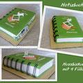 Notizbuch/Book-Nussbiskuit mit 4 füllungen