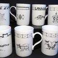Mugs...grenouille, chenille, serpent, tamanoir, tortue luth, cop à deux têtes...(atelier)
