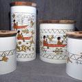 """Diff. pots hermétiques """"Amérindiens en pirogue"""" (atelier)"""