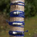soie boulotée bleu foncé (atelier)