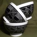 Différents bols - collection noir/blanc (atelier)