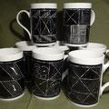 Différents mugs - collection noir/blanc (atelier)