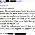 HEUER Bewertung Kundenschreiben - Hannover / Langenhagen