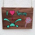 Türschild Frühling Plottdatei von Kronenkind