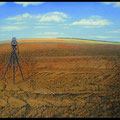Der Acker, Öl /Tempera auf Holz, 70 x 100cm, 1994
