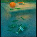 Am Spielplatz, On the Playground),70x70cm