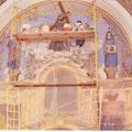 Andamio que se puso para tener acceso al retablo principal.