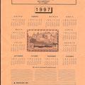 Felicictacion navideña y calendario para 1996