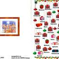 Felicitacion navideña para  2003 - portada y contraportada