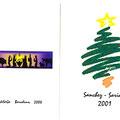Felicitacion navideña para 2000 - portada y contraportada