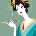 花魁 -oiran1- Illustration/kaori sato