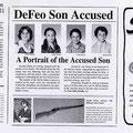 Un article de presse sur le massacre d'Amityville