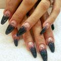 Nails schwarz-pink
