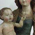Gefasste Holzskulptur Maria mit Kind, Bistum Aachen