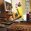 """Momentaufnahme zum Tag des offenen Denkmals mit dem Thema """"Farbe""""  2014, Öffentlichkeitsarbeit im Grafschafter Museum Moers"""