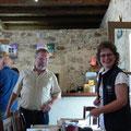 Erika Sauer begrüßt die Teilnehmer des Züchterstammtisches.