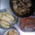 ビーフシチュー 揚げ出し豆腐 ポテトフライ 筍と椎茸の煮物