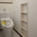 手洗い器一体型フル装備WCセット+壁付収納棚