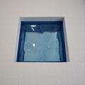 アクセントの瑠璃カラー・ガラスブロック