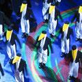 2004: KING ARTHUR. Die Pinguinkolonie der Konzertvereinigung in der berühmten Frost- Szene (Foto: KV).