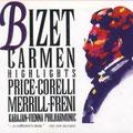 CARMEN (Bizet); Karajan; Price, Corelli, Merrill, Freni; Wr. Philharmoniker, Konzertvereinigung Wiener Staatsopernchor.