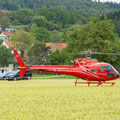 Elite Flights, AS 350 B2 Ecureuil, HB-ZPF, Rundflugtag Gewerbeausstellung UNDOB 2019, Obersiggenthal, on ground