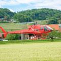 Elite Flights, AS 350 B2 Ecureuil, HB-ZPF, Rundflugtag Gewerbeausstellung UNDOB 2019, Obersiggenthal, approach