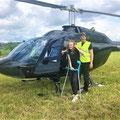 Elite Flights, Bell 206 Jet Ranger, HB-ZPZ, Rundflugtag Gewerbeschau Maschwanden 2019