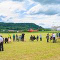 Elite Flights, AS 350 B2 Ecureuil, HB-ZPF, Rundflugtag Gewerbeausstellung UNDOB 2019, Obersiggenthal, Landung