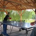 partie de ping-pong bien disputée
