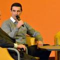Gespräch mit Ingo Steuer, rechts sein Sohn Hugo