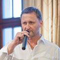 Dirk Kohl, Chef des Weltbuch Verlages eröffnet die 6. Dresdner Literaturlounge