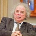 Karltheodor Huttner moderierte das Gespräch mit Ingo Steuer
