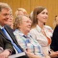 Ronald H. Adler, künstlerischer Berater der Semperoper (li.) und Sophie Micheel (re.) während der Literaturlounge am 3.9.2014