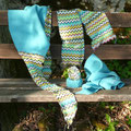 Busenwärmer, Armreifen und Schal
