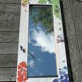 Spiegel mit Glasmosaik