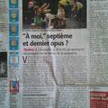 """Article du """"Midi Libre"""" 12/08/2015 à propos du spectacle """"A Moi"""""""