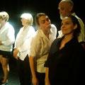 """Aurore Rouvier et Helen Juren, répétitions Groupe Nomades - spectacle """"A Moi"""" 2015"""