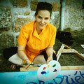 """Helen Juren, peinture pour le spectacle """"A Moi"""" 2015"""