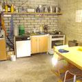 Notküche in der Garage
