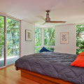 FREDRICKSON NAGLE HOUSE: CLEAN MODERN DAYLIGHTING AT MASTER BEDROOM SUITE