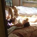 午後の陽光を浴びて・・・@男子部屋