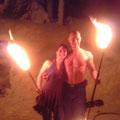 Feuershow auch im Winter Hermagor Nassfeld Hotel Gartnerkofel