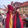 Stelzengeher Gaukler Spectakulum Friesach Mittelalterfest