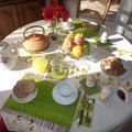 Petit déjeuner, croissant et chants d'oiseaux