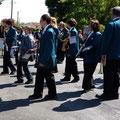 Défilé du jumelage à Sainte-Florine le 13 mai 2012